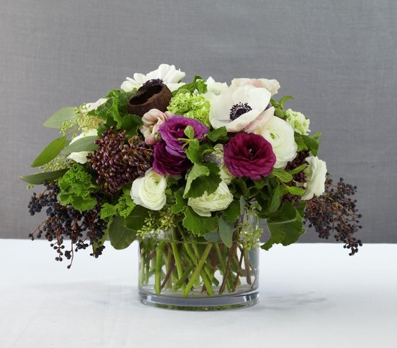 Purple reign gorgeous wedding reception centerpieces