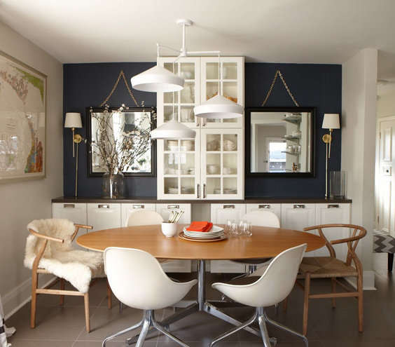 32 elegant ideas for dining rooms real simple for Decorating ideas large dining room wall