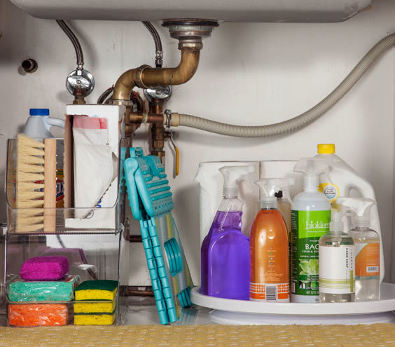 Organize Kitchen Cleaning Supplies The Strategy Easy Under The Sink Storag