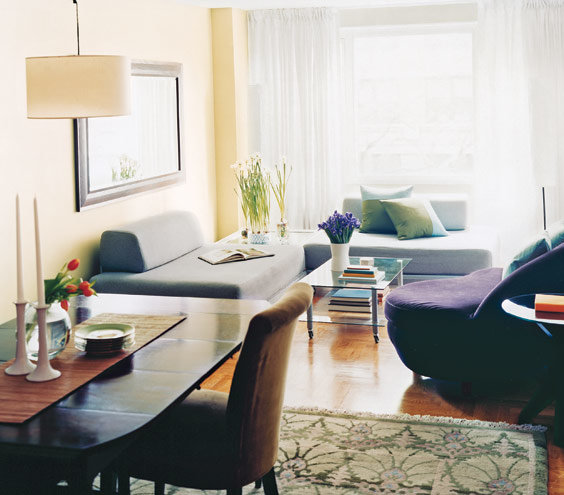 14 living room and dining room makeovers real simple for Dining and sitting room designs