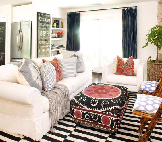 Image gallery eclectic rooms for Eclectic small living room design