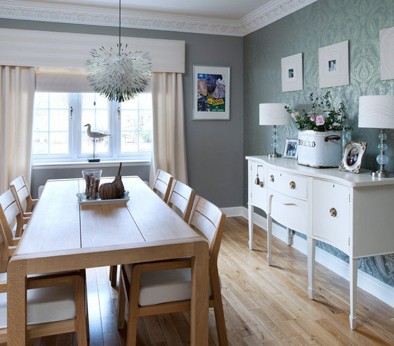 Dining Room Wallpaper Ideas: 32 Elegant Ideas For Dining Rooms - Real