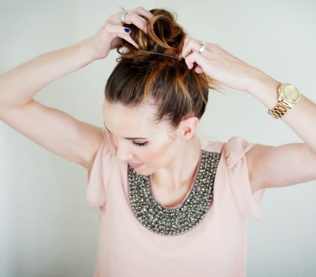 Magnificent Messy Topknot 6 Easy Topknots For Any Occasion Real Simple Short Hairstyles Gunalazisus