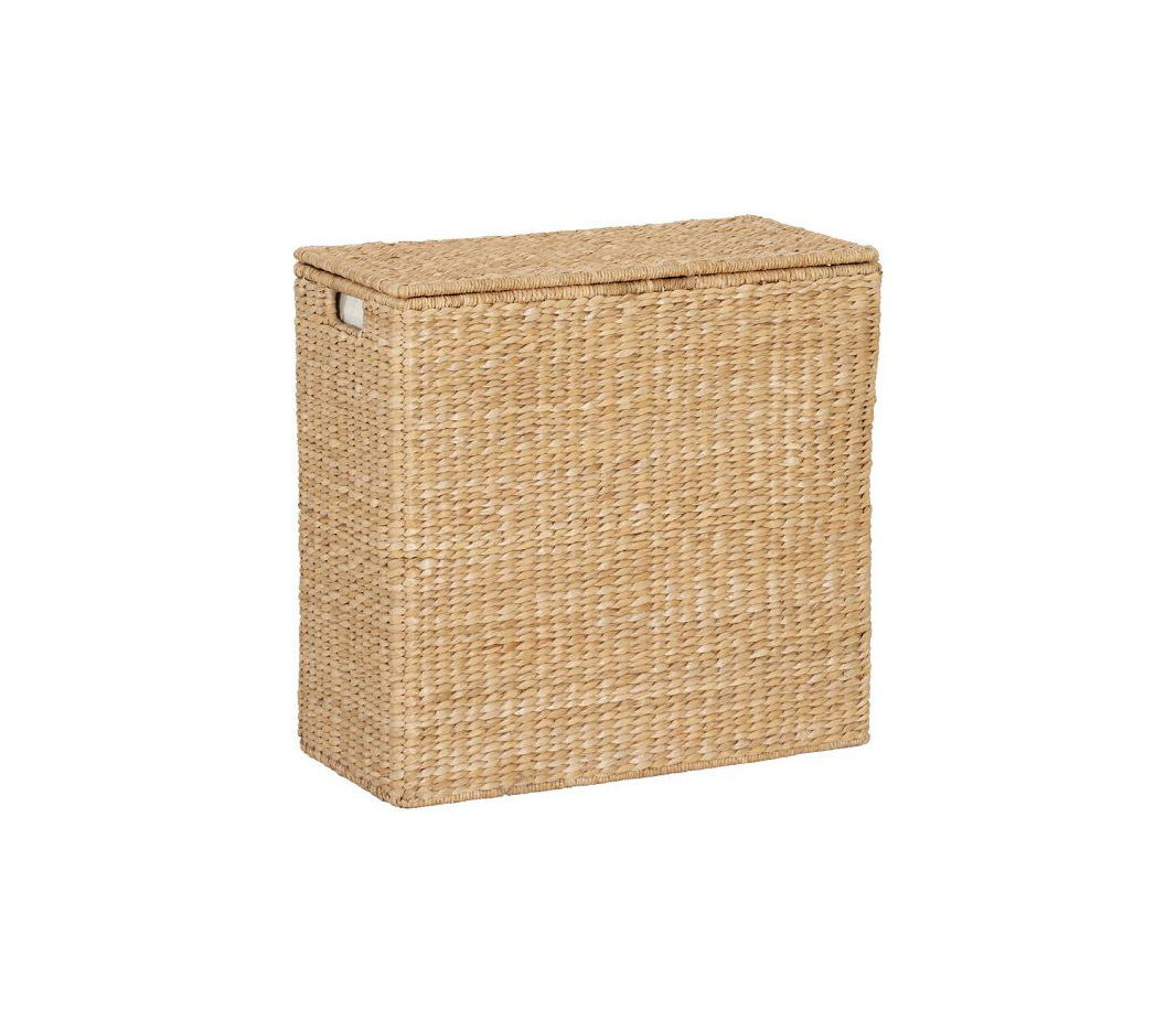 Divided hamper and liner 6 handy hampers real simple - Divided laundry hampers ...