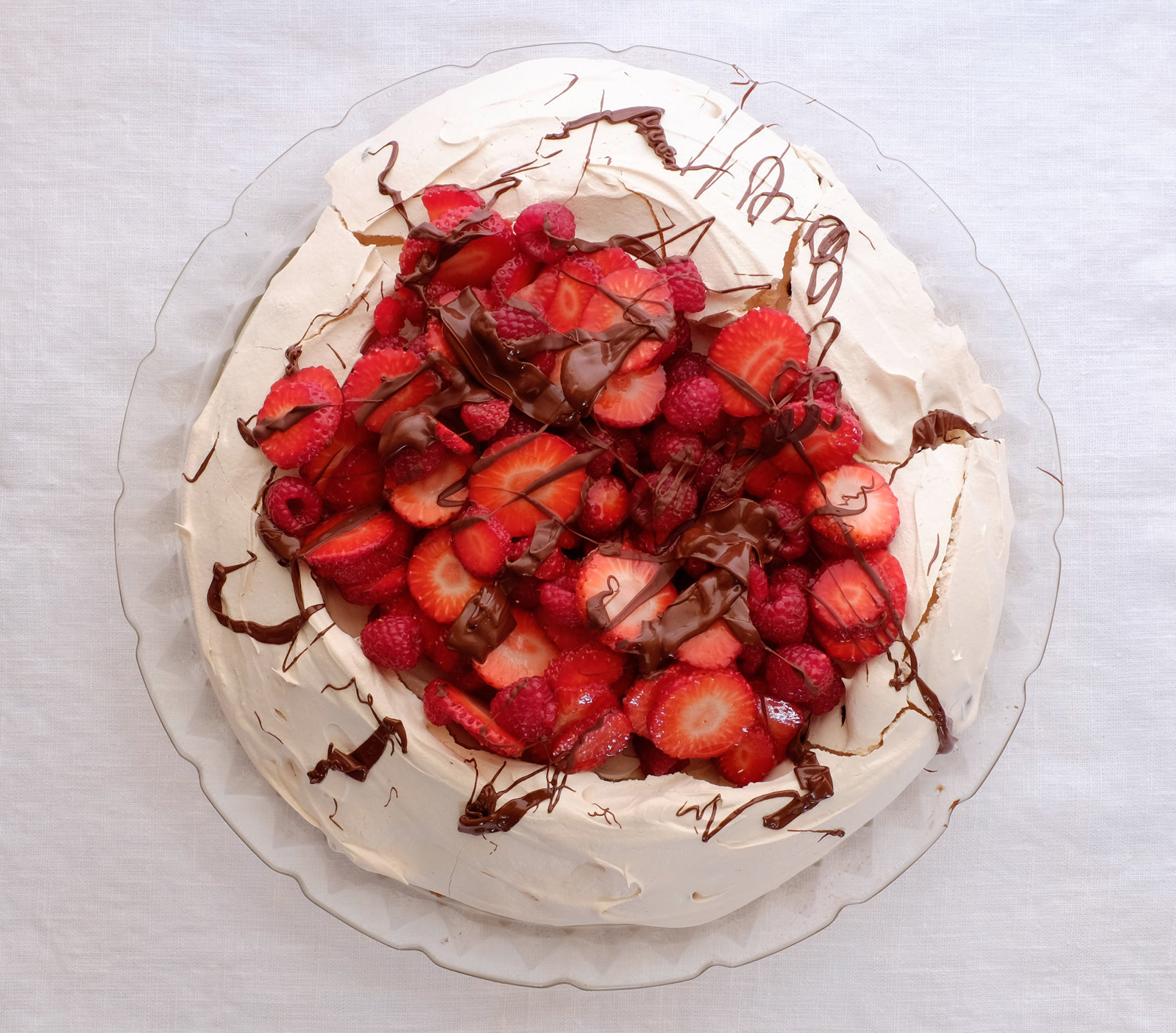 Red Berry and Chocolate Pavlova | The Best Passover Desserts - Real ...