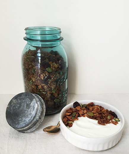 Honey Nut Granola with Cherries and Pumpkin Seeds | Real Simple