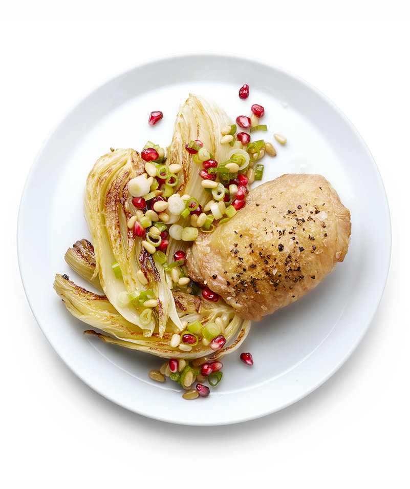 roasted-chicken-fennel-pomegranate-seed-salsa