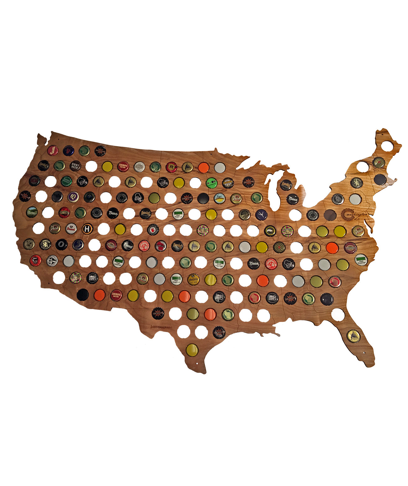 Bottle cap map great gifts for men real simple for A gift for a guy