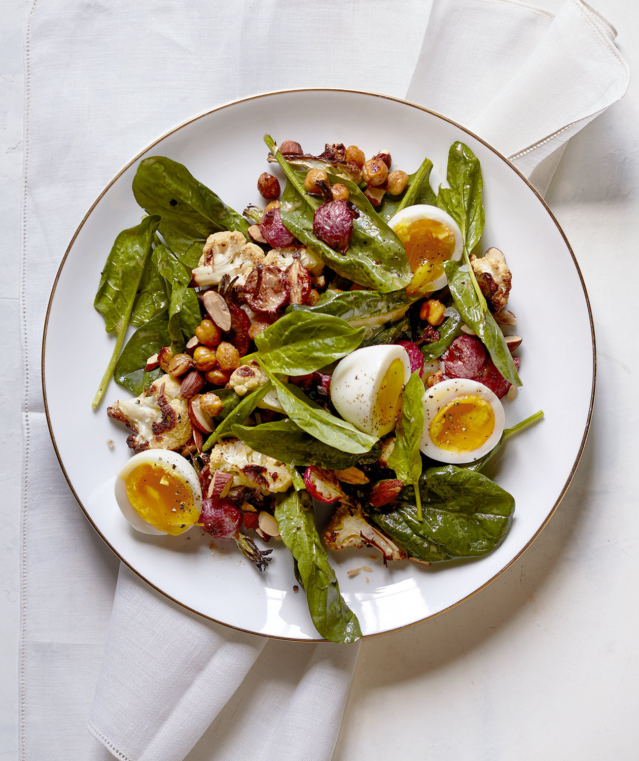 roasted-cauliflower-radish-salad-soft-eggs