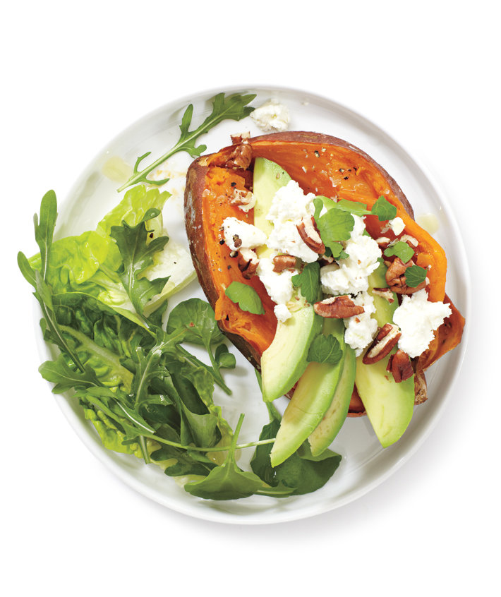 Loaded Baked Sweet Potato Recipe | Real Simple