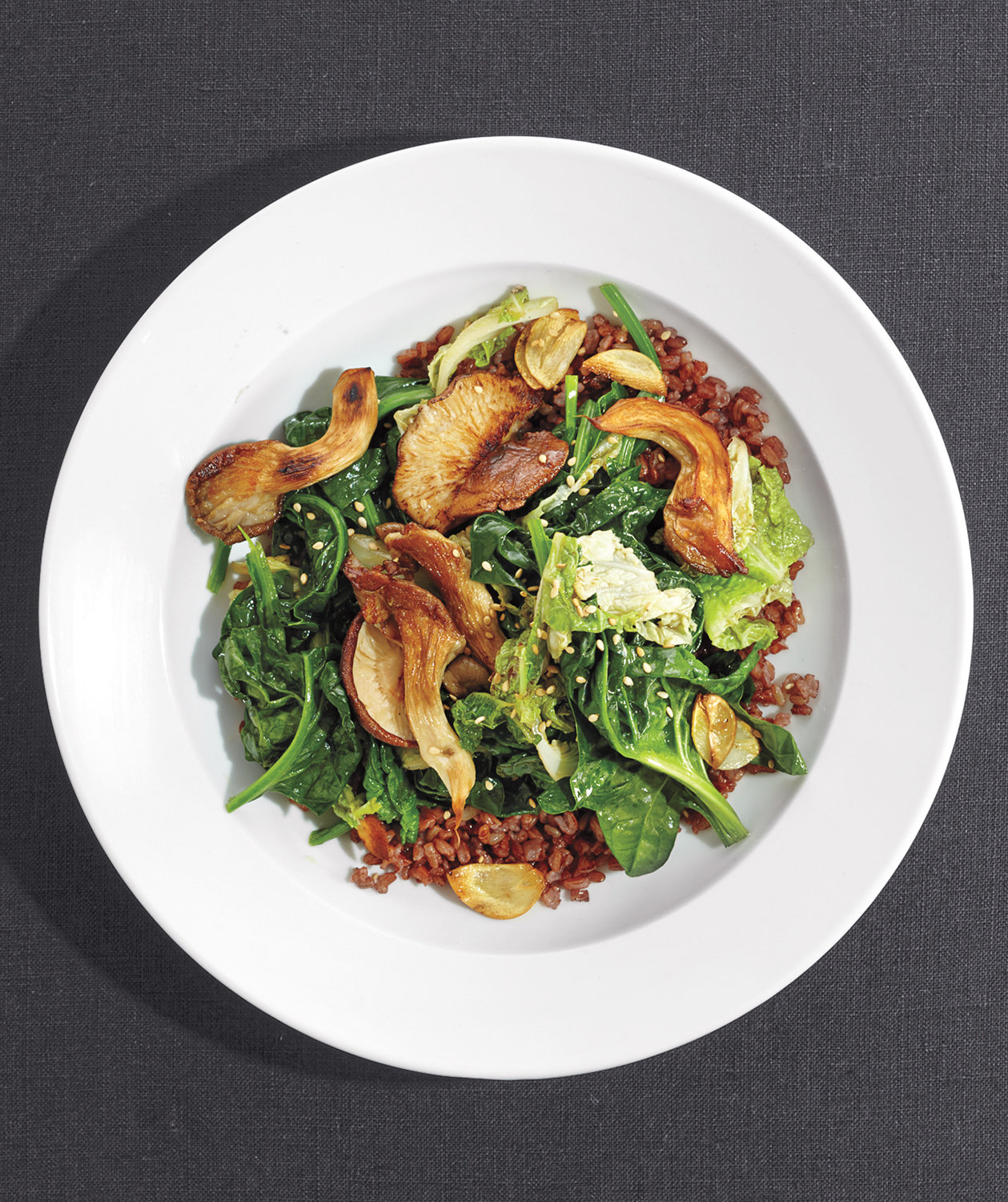 red-rice-stirfry-mushrooms-greens
