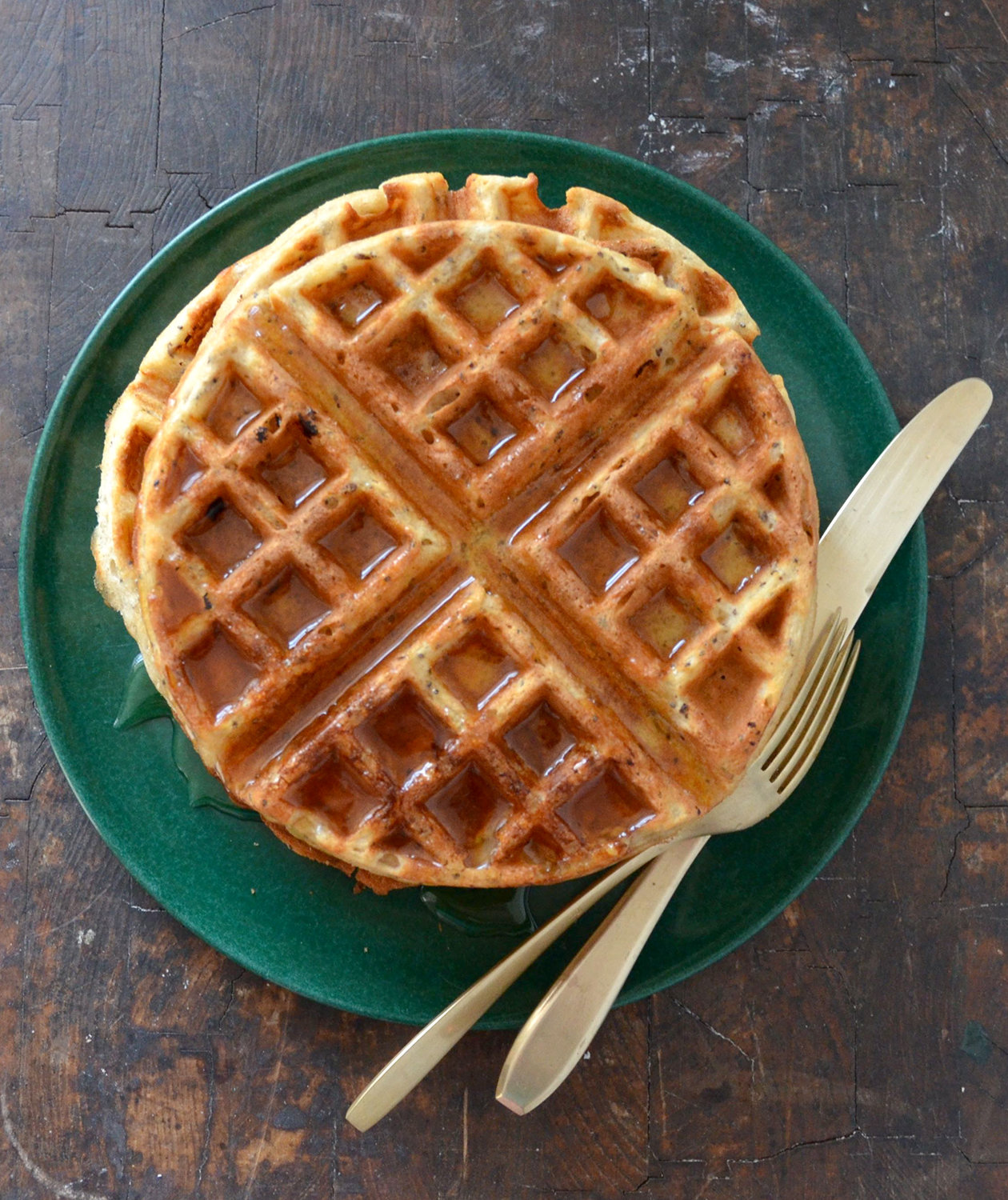 Whole Wheat Chia Seed Waffles | Real Simple