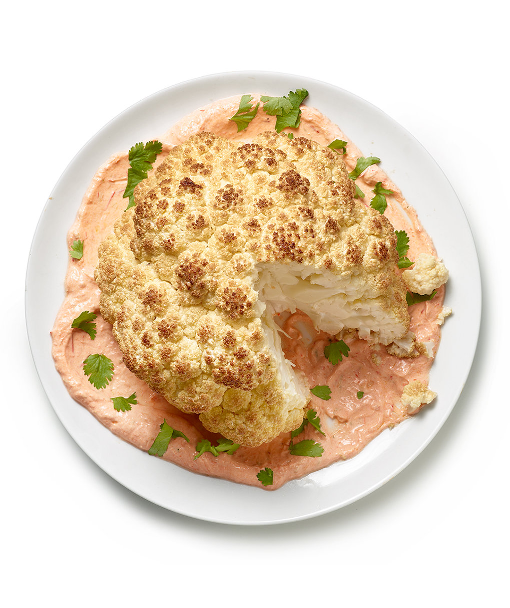 roasted-cauliflower-harissa-yogurt