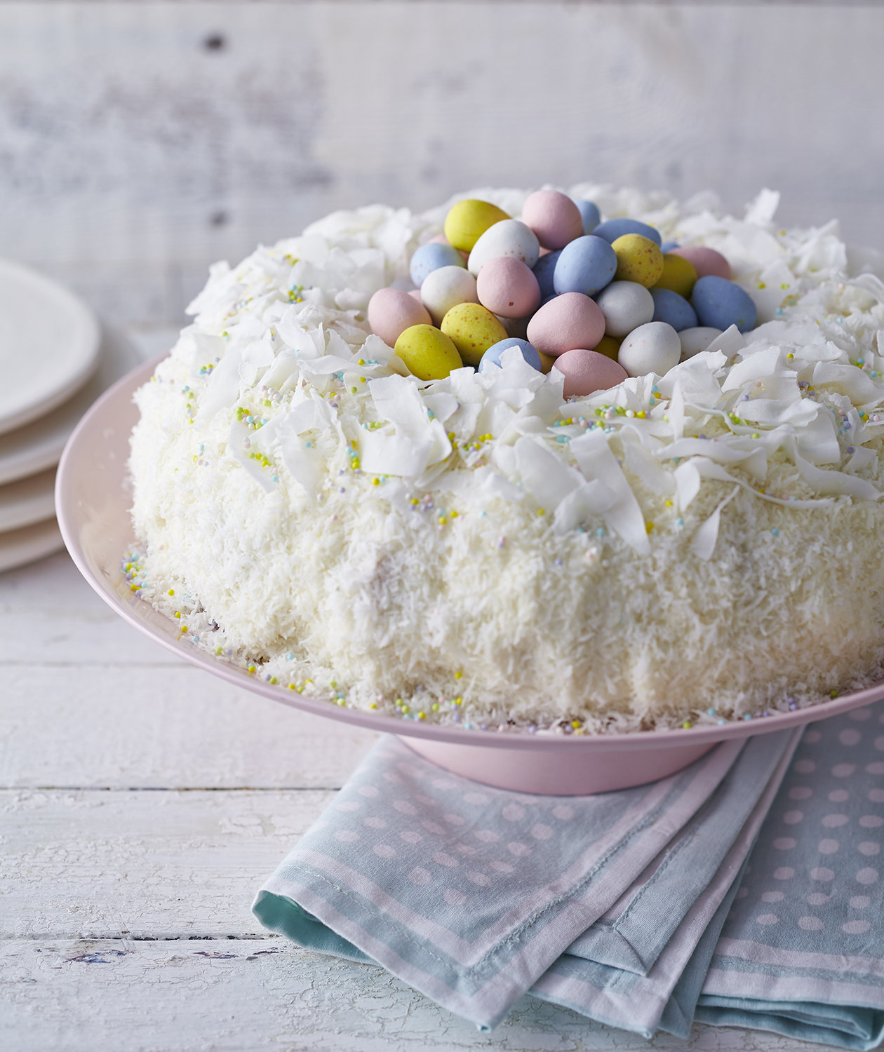 lemon-coconut-easter-bird-nest-cake