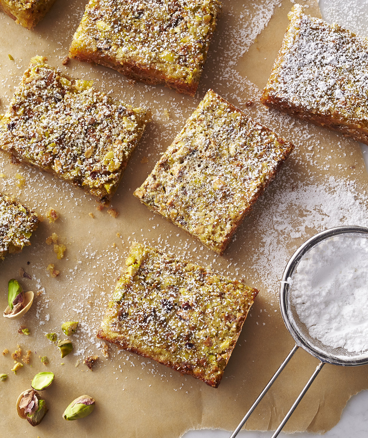 Lime Squares With Pistachio Graham-Cracker Crust Recipe — Dishmaps
