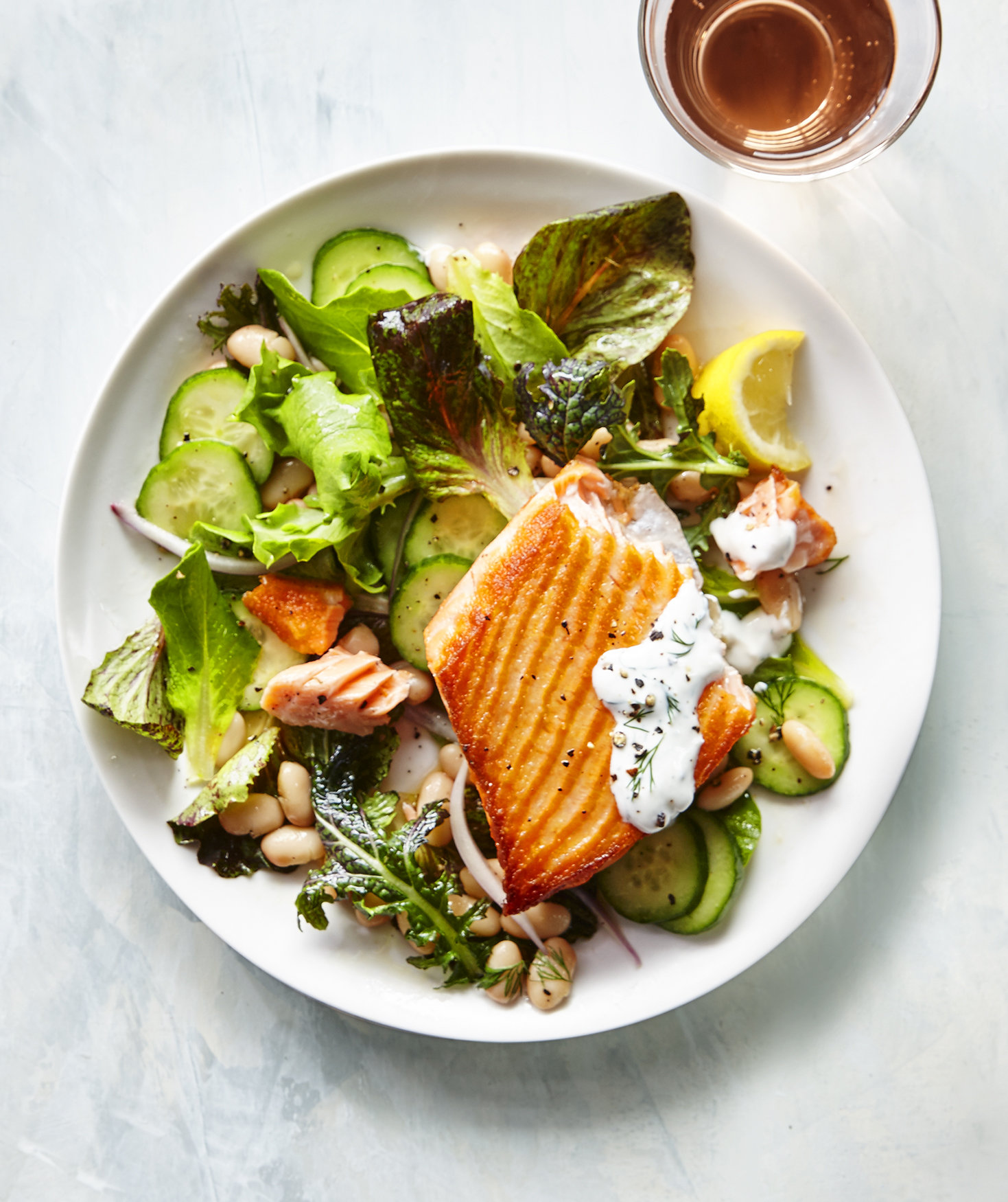 Salmon Salad With Herbed Yogurt | Real Simple