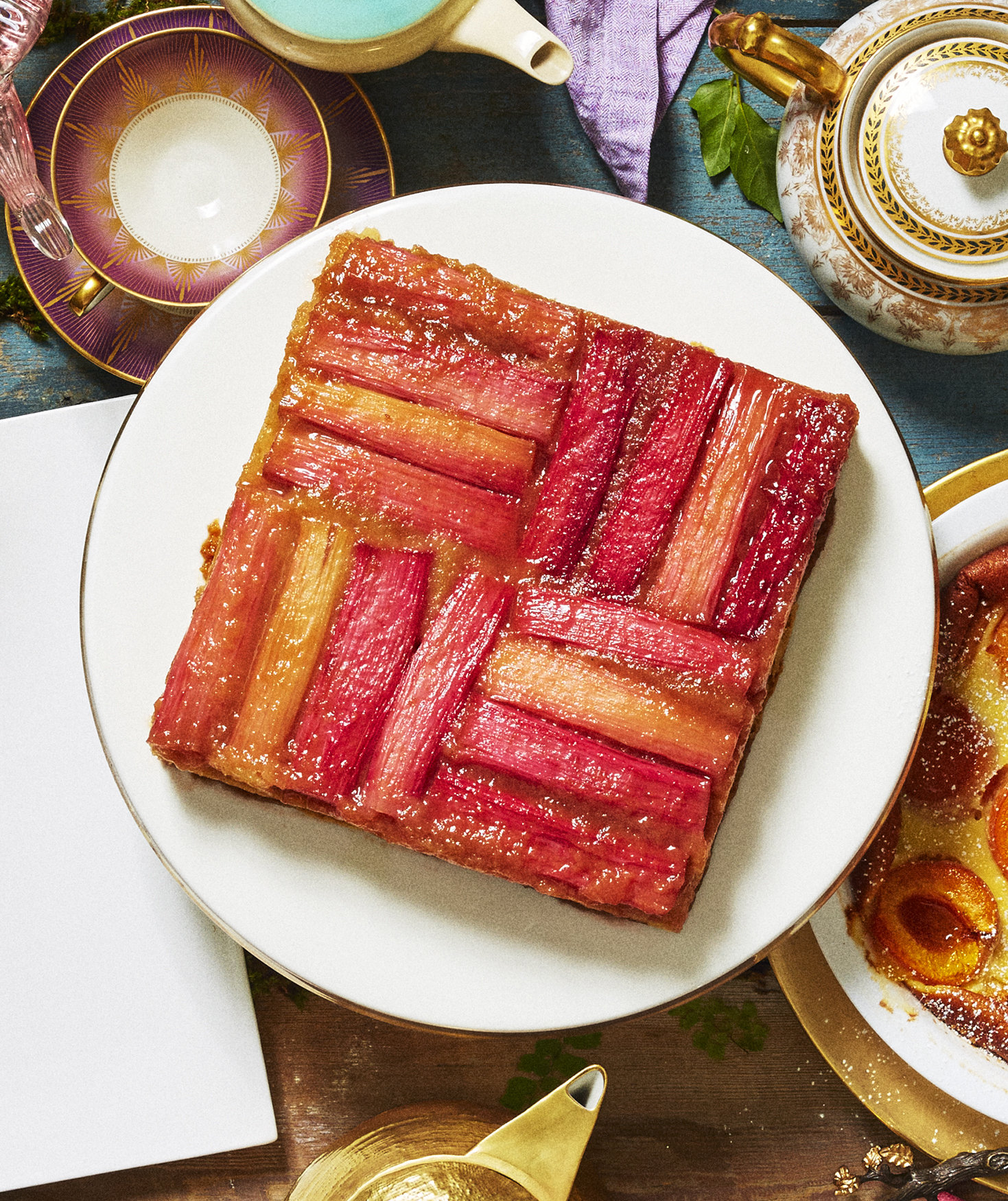 rhubarb-upside-down-cake
