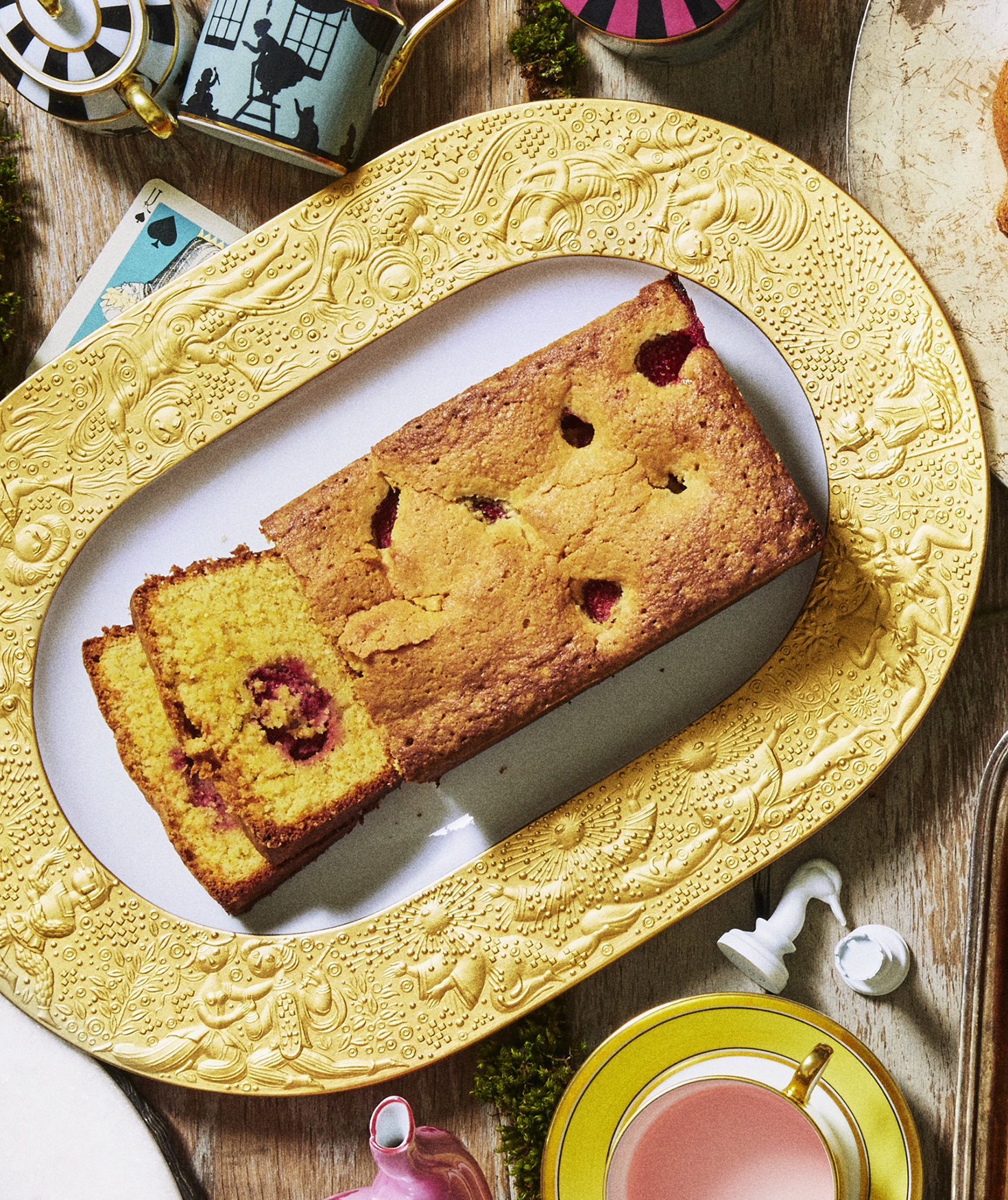 strawberry-almond-cornmeal-cake
