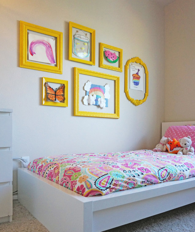 6 Ideas On How To Display Your Home Accessories: 6 Ways To Display Your Kid's Artwork
