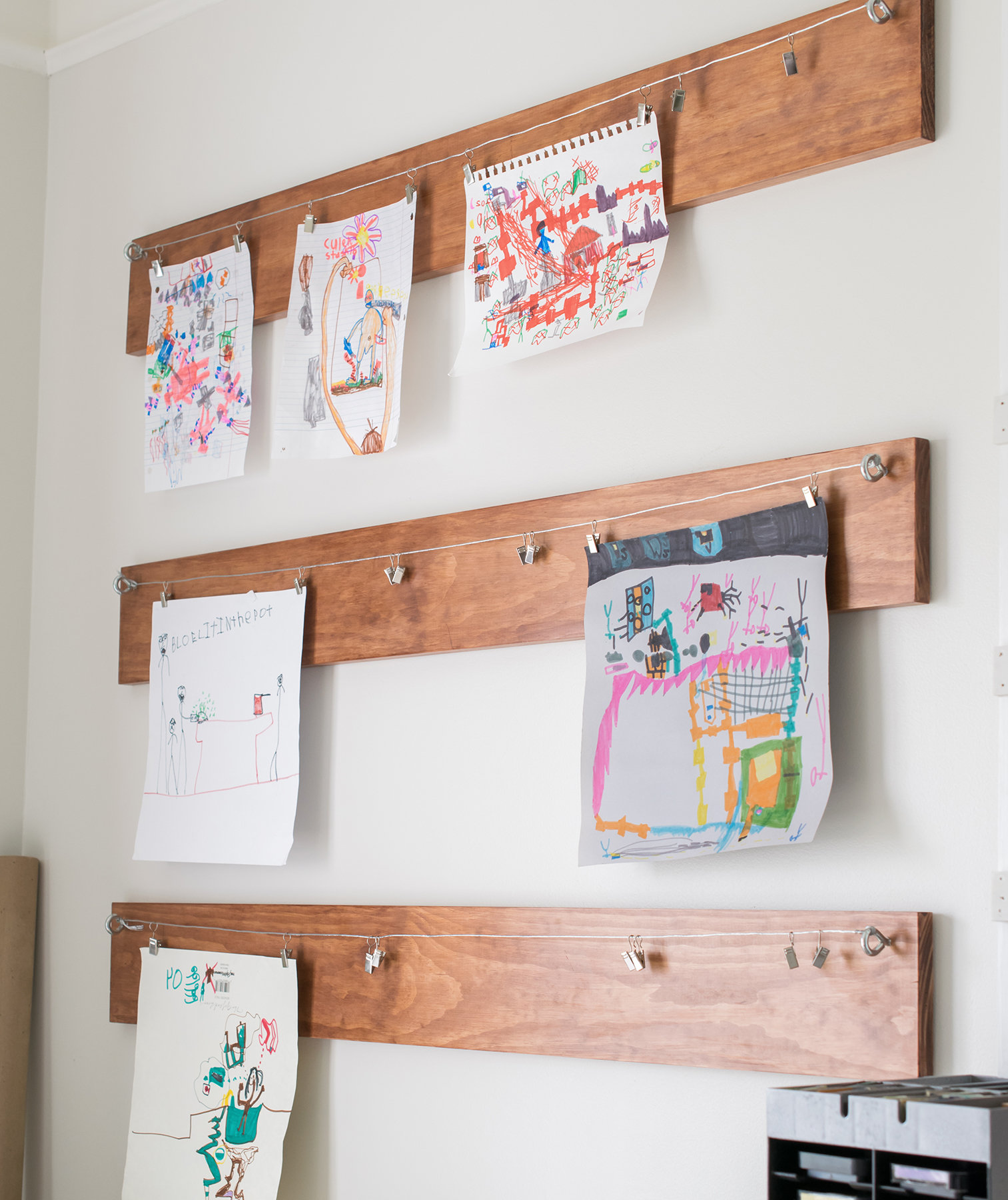 6 ways to display your kid s artwork real simple