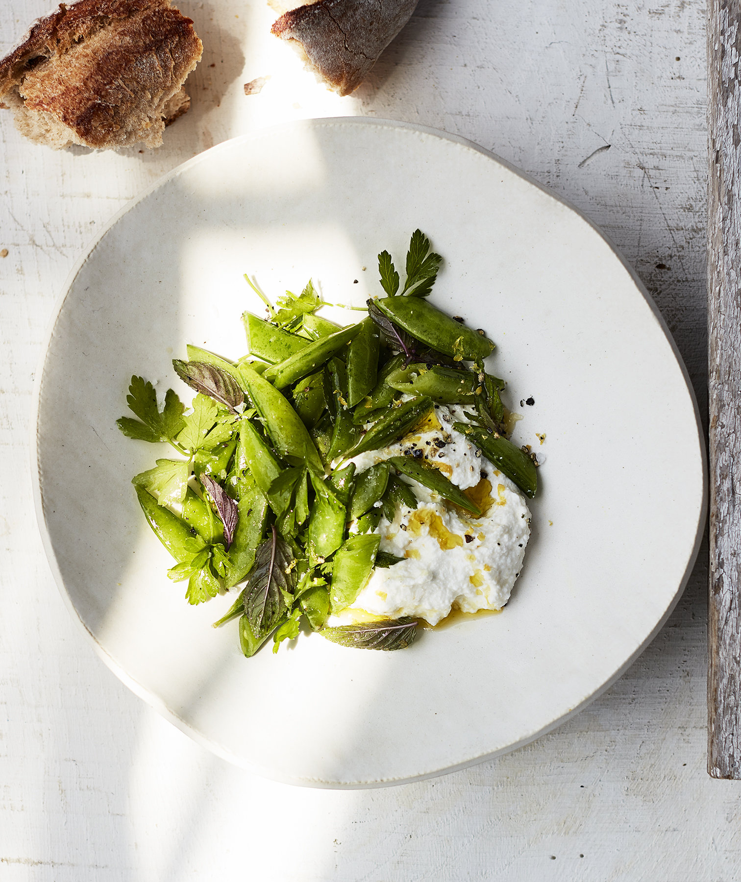 snap-peas-lemon-ricotta-mint-parsley