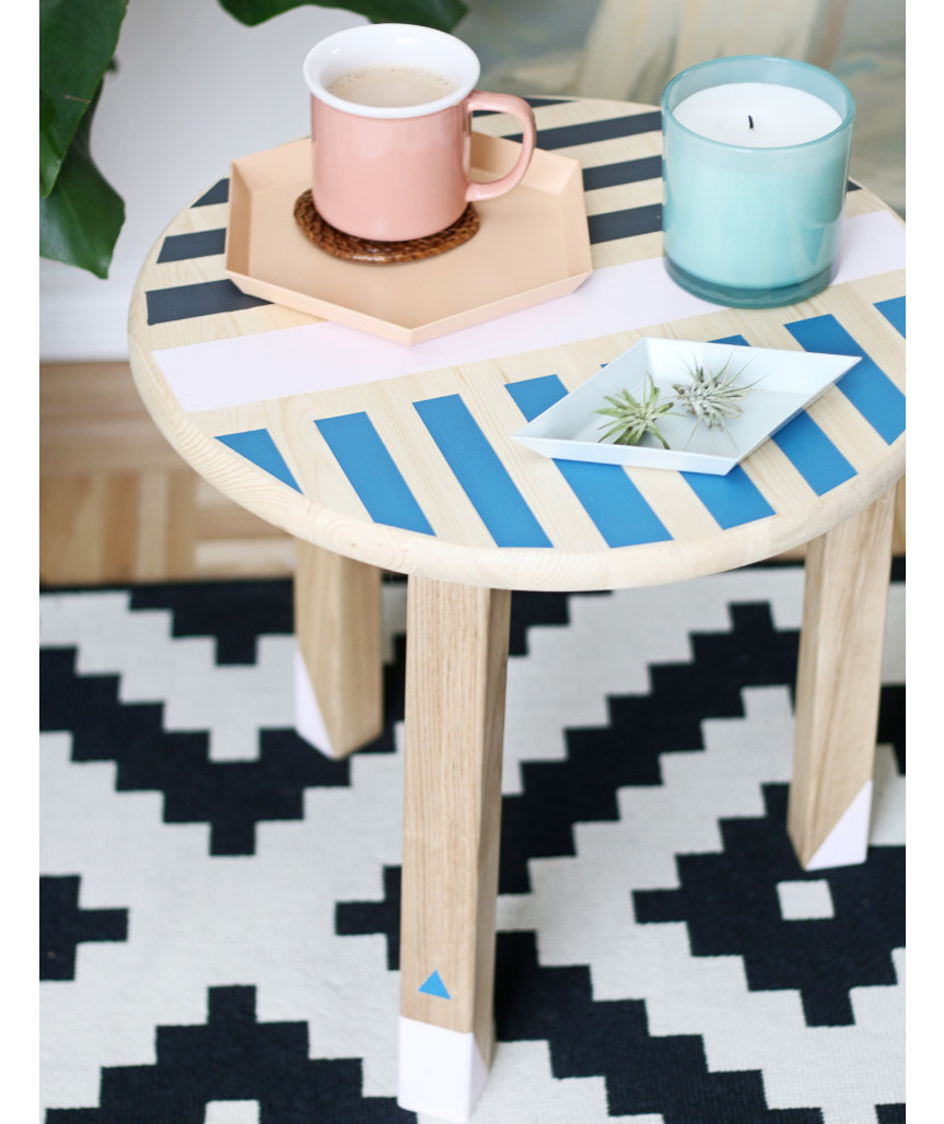 colorful-painted-side-table