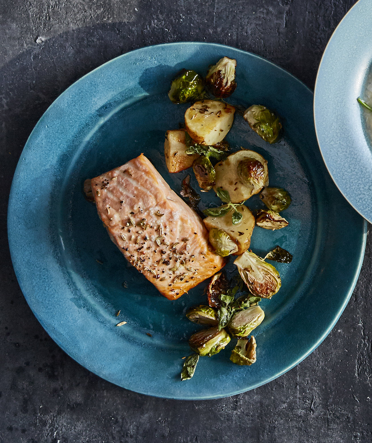 roasted-salmon-brussels-sprouts