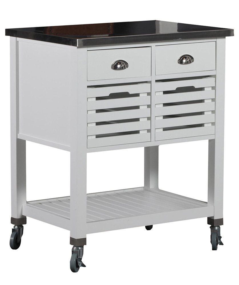 stainless steel top vitale kitchen cart 6 portable how to choose the right rack for hanging pots and pans