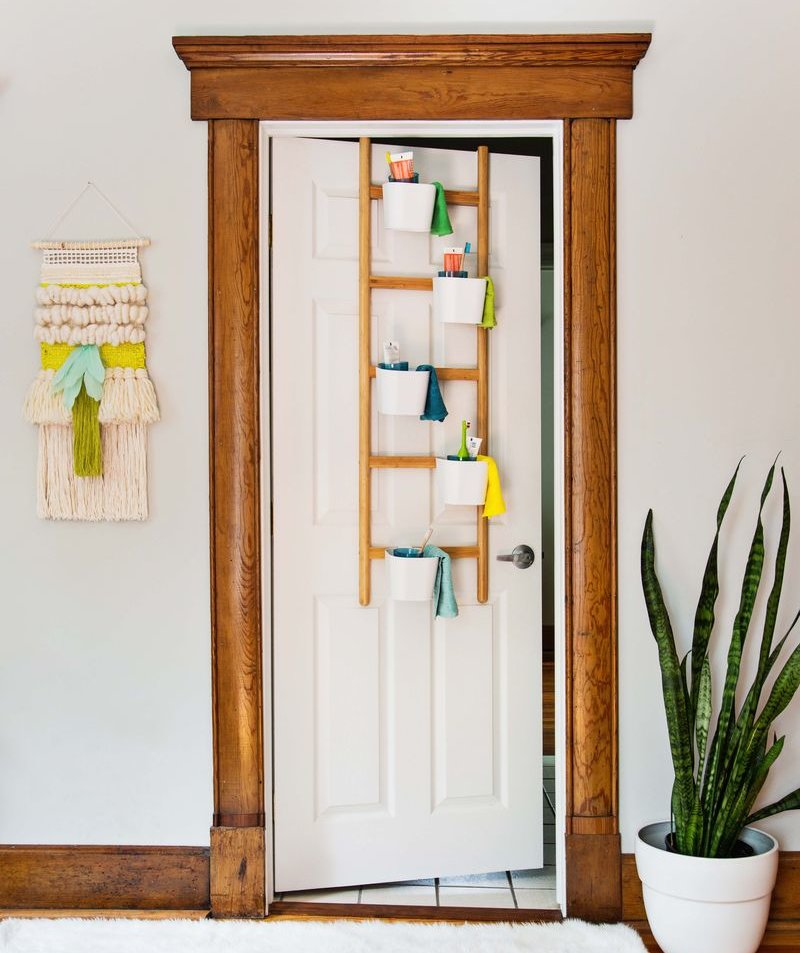 Over The Door Organizer Diy Bathroom Storage Real Simple