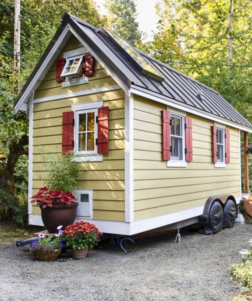 beachfront getaway in olympia washington 10 tiny houses you can rent or even buy real simple. Black Bedroom Furniture Sets. Home Design Ideas