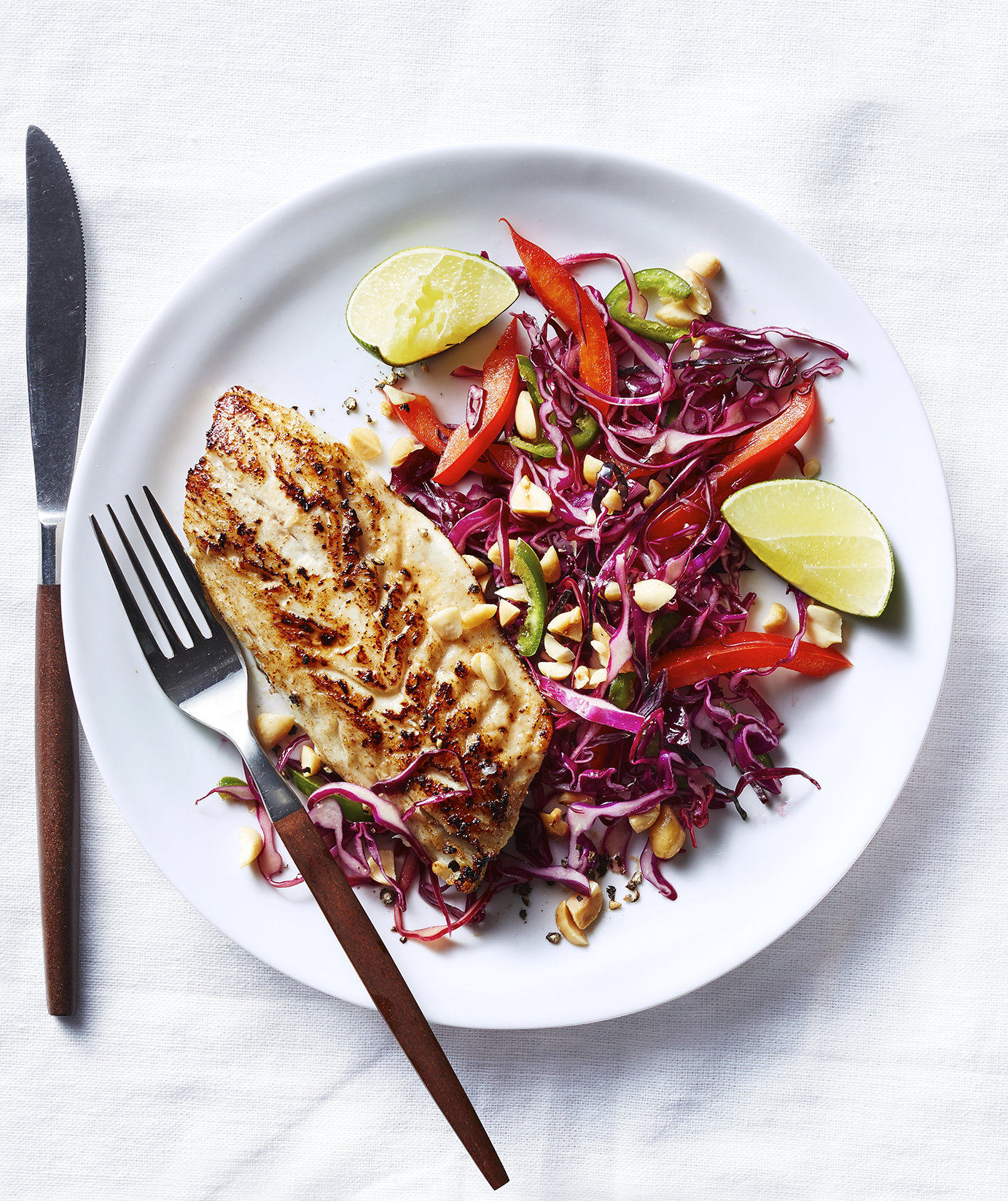 Miso Black Bass With Asian Slaw | Real Simple