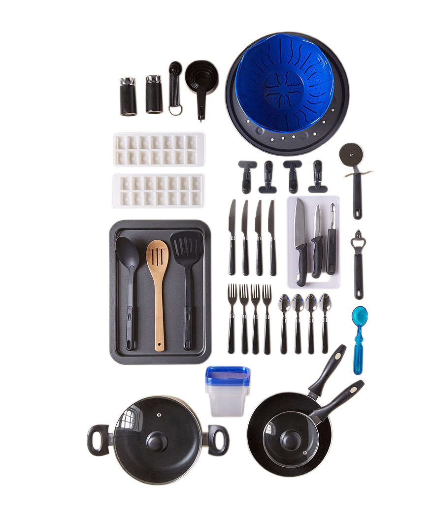 59 piece total kitchen set gifts for couples real simple for Kitchen set real