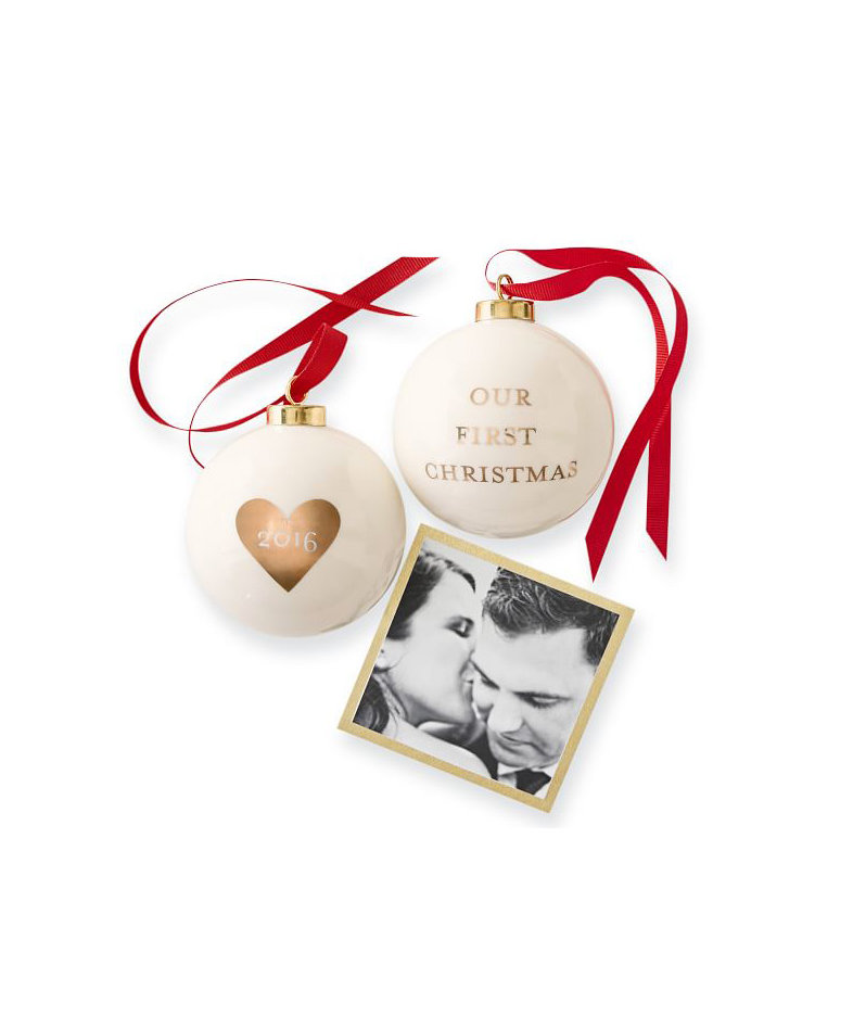 Couples Christmas Gift Ideas: 2016 Ceramic Ornament, Our First Christmas