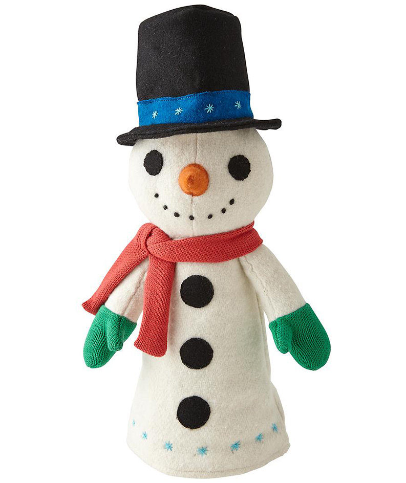snowman tree topper christmas tree toppers real simple. Black Bedroom Furniture Sets. Home Design Ideas