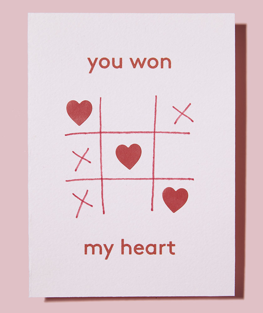 Won my heart creative homemade valentine s card ideas for Creative valentine day cards