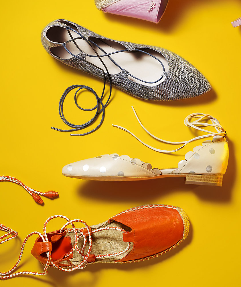 ankle-wrap-flats-yellow-background