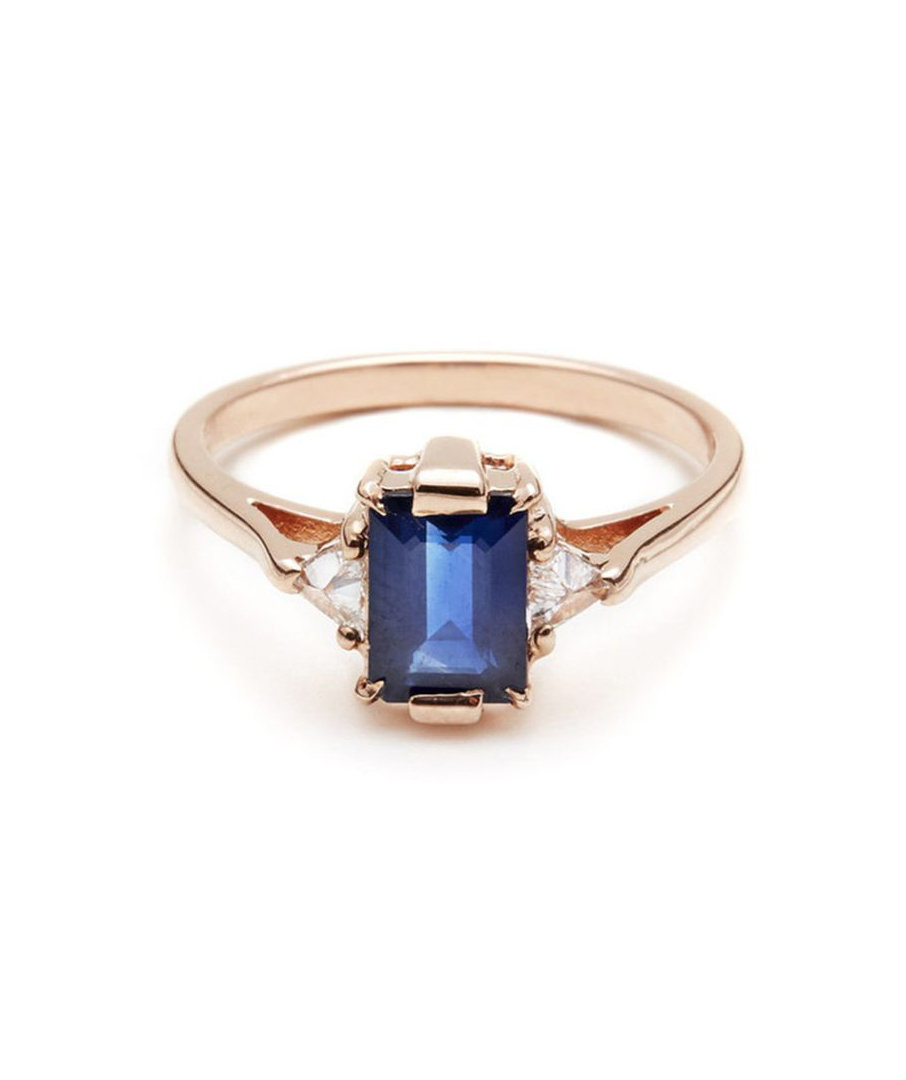 Anna Sheffield Blue Sapphire Bea Affordable Engagement Rings