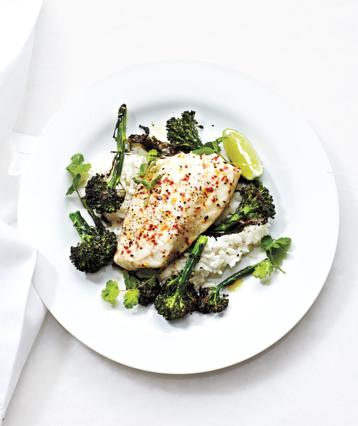 broccolini-bass-coconut-rice