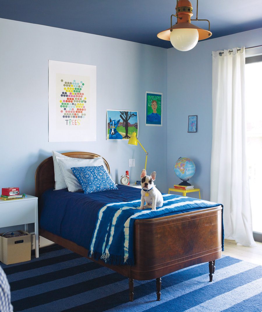 Blue And White Bedroom Decor Bedroom Organization Design Of Bedroom Cabinet Bedroom Ideas All White: Try A Paint Trick