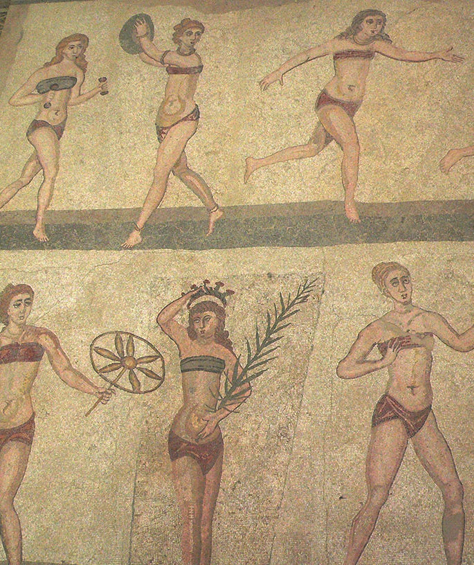 women-bathing suit-mosaic