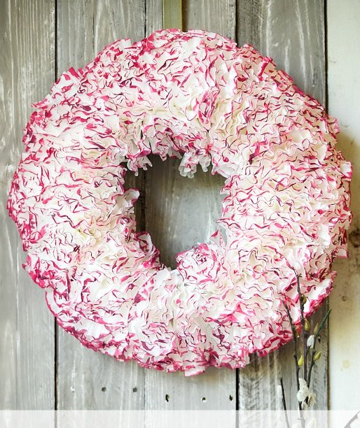 Watercolored Coffee Filter Wreath 6 Valentines Day Wreaths You