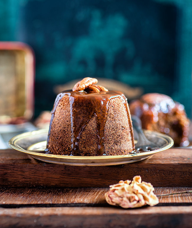 Date And Ginger Sticky Toffee Puddings With Brandy Toffee
