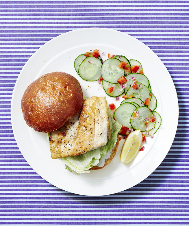 fish-sandwiches-cucumber-pepper-salad