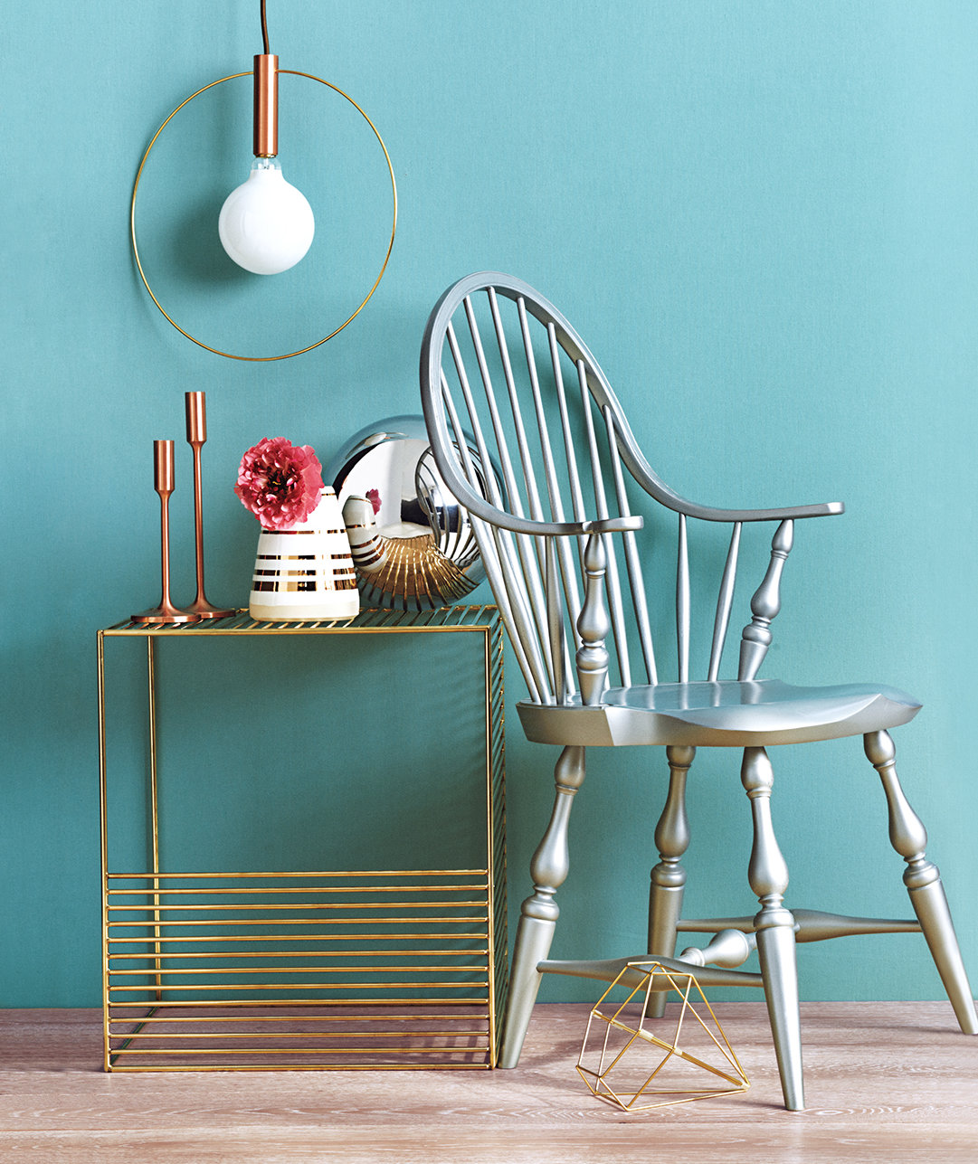 silver-gold-furniture-blue-wall