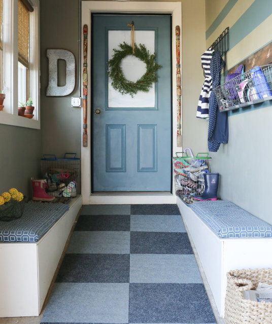 5 ways to fake a mudroom real simple for Garage mudroom
