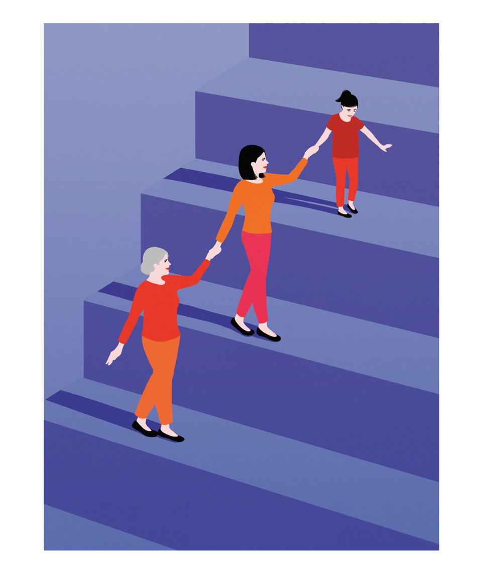 women-motherhood-stairs