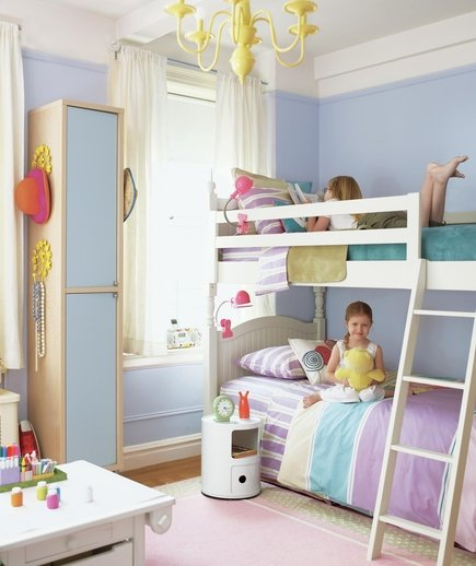 Decor ideas for a kid s room real simple for Bedroom ideas for girls sharing a room