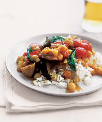 Curried Eggplant With Tomatoes and Basil | 15 Easy ...