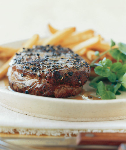 Pan-Seared Steak au Poivre | Easy French Recipes - Real Simple