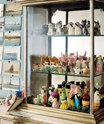 Elevate salt and pepper shakers or figurines with a museum style case display collections with - Salt and pepper shaker display case ...